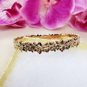 Plumeria Lei Bangle bracelet